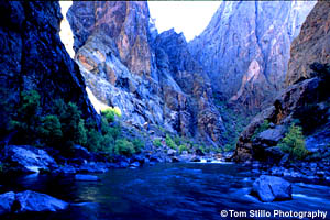 Gunnison River running through Black Canyon